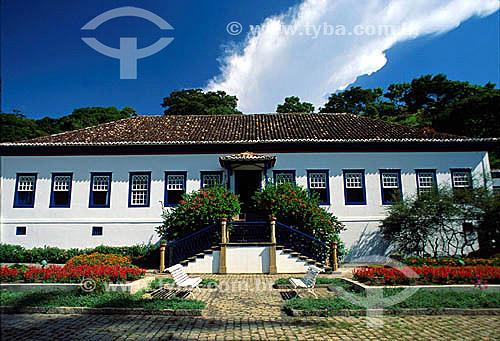 Fachada da antiga fazenda de café São Fernandes - Brasil