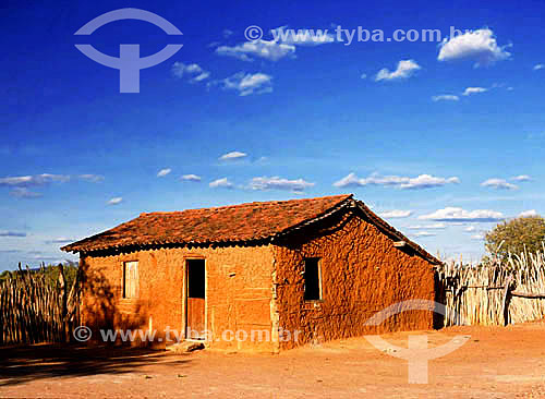 Casa de pau-a-pique / Wattle and daub house