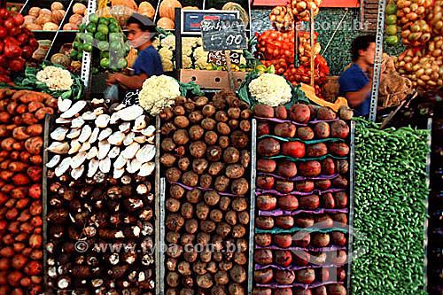 Legumes diversos no mercado da Cobal - Rio de Janeiro - RJ - Brasil  - Rio de Janeiro - Rio de Janeiro - Brasil