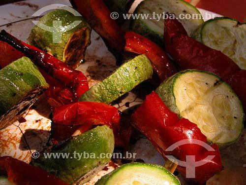 Churrasco de pimentao e abobrinha - Brasil