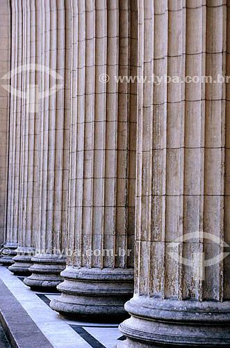 Colunas do Palácio Tiradentes - Alerj (Assembléia Legislativa do Estado do Rio de Janeiro) - Rio de Janeiro - RJ - Brasil  - Rio de Janeiro - Rio de Janeiro - Brasil
