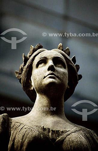 Estátua - Museu Nacional de Belas Artes - Rio de Janeiro - RJ - Brasil  - Rio de Janeiro - Rio de Janeiro - Brasil