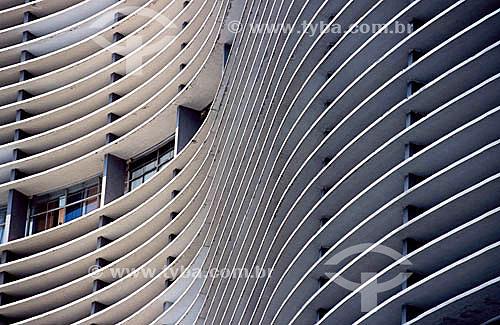 Edifício Copan, projetado pelo arquiteto Oscar Niemeyer na ocasião do IV Centenário da cidade - São Paulo - SP - Brasil  - São Paulo - São Paulo - Brasil