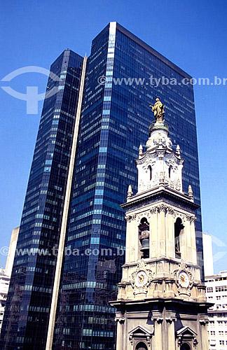 Antiga Catedral e o Edifício Candido Mendes - centro da cidade do Rio de Janeiro - RJ - Brasil   - Rio de Janeiro - Rio de Janeiro - Brasil