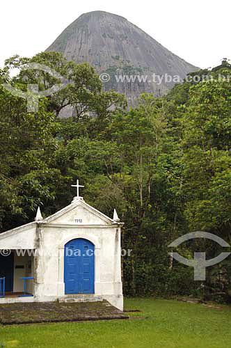 Capela Nossa Senhora da Conceição, estilo Barroco, data 1713 - Parque Nacional da Serra dos Órgãos / Rota do ciclo do ouro - Barreira - RJ - 6/01/2007  - Barreira - Rio de Janeiro - Brasil