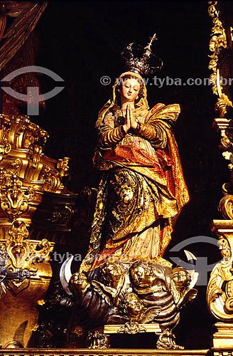 Estátua- Santos -Igreja da Penitência - Vista interna -  Rio de Janeiro - RJ - Brasil  - Rio de Janeiro - Rio de Janeiro - Brasil