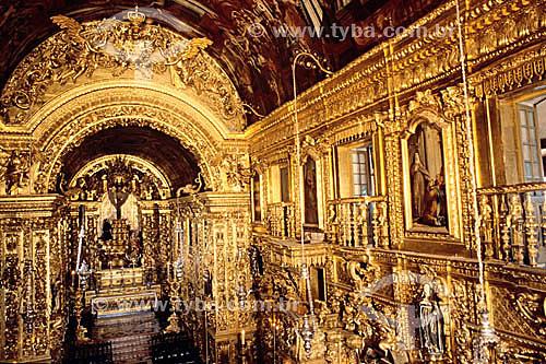 Interior da Igreja da Penitência com entalhes de madeira folheada à ouro - Rio de Janeiro - RJ - Brasil  - Rio de Janeiro - Rio de Janeiro - Brasil