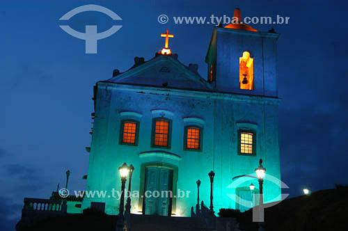 Matriz de Nossa Senhora de Nazareth à noite - Saquarema - RJ - Brasilobs.: foto digital  - Rio de Janeiro - Rio de Janeiro - Brasil
