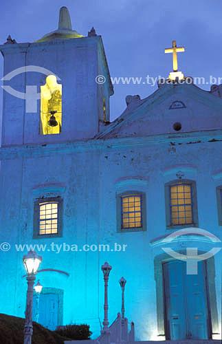 Igreja Matriz Nossa Senhora de Nazareth à noite - Saquarema - RJ - Brasil  - Saquarema - Rio de Janeiro - Brasil