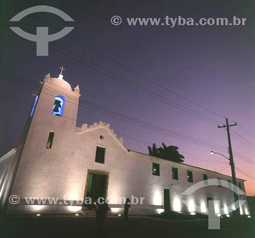 Igreja da Matriz à noite - São Pedro da Aldeia - RJ - Brasil  - São Pedro da Aldeia - Rio de Janeiro - Brasil