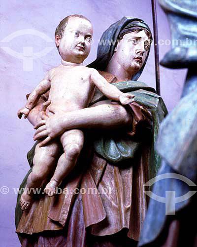 Grupo das filhas de Jerusalem - Passo da Cruz-às-costas - Esculturas de Aleijadinho  - Congonhas - Minas Gerais