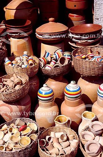 Artesanato em barro - Mercado São Joaquim - Salvador - BA - Brasil  - Salvador - Bahia - Brasil