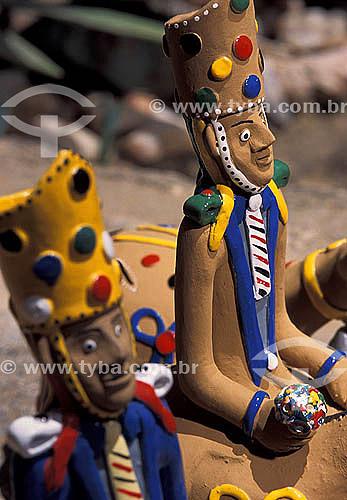 Artesanato em Barro - Cavaleiros - Mestre Vitalino - Caruaru - Pernambuco - Brasil  - Caruaru - Pernambuco - Brasil