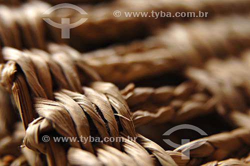 Artesanato utilizando fibras de Taboa  - Quissamã - Rio de Janeiro - Brasil