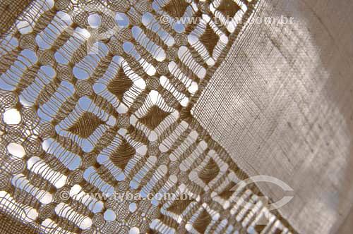 Detalhe de toalha bordada - Rio São Francisco  - Pão de Açúcar - Alagoas - Brasil