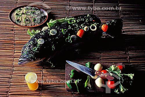 Alimentação - Culinária típica do Norte do Brasil - Peixe Tucunaré