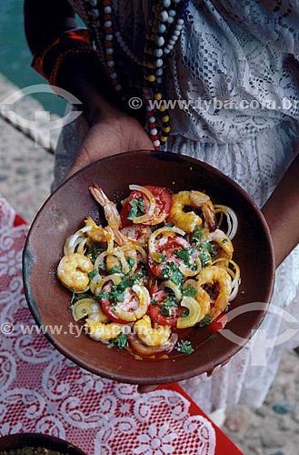 Culinária - moqueca de camarão  - Brasil