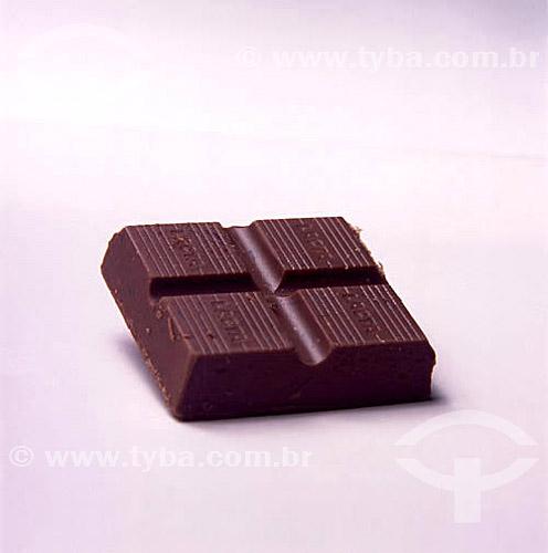 Culinária - Doce - chocolate em barra