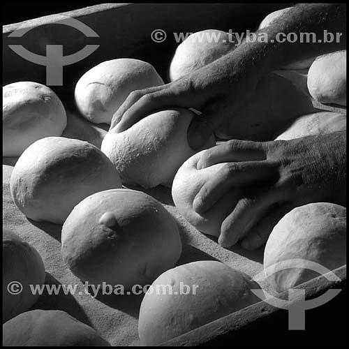 Fabricação de pão - Padaria São Domingos - Bairro do Bexiga - São Paulo - SP - 25-01-2004 - Brasil  - São Paulo - São Paulo - Brasil