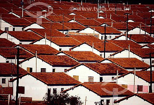 Casas em conjunto habitacional - habitação popular - Brasil