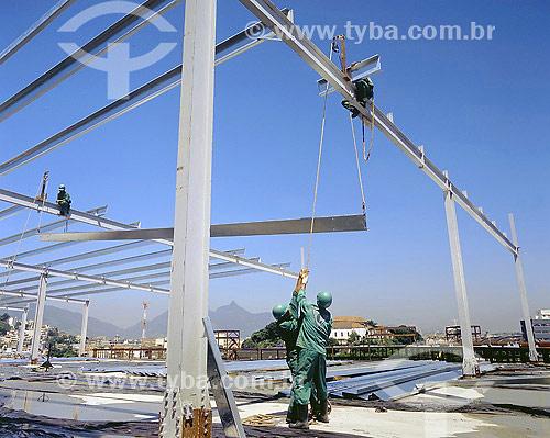 Construção civil - Construção da Cidade do Samba - Rio de Janeiro - RJ - Brasil - Julho de 2005  - Rio de Janeiro - Rio de Janeiro - Brasil