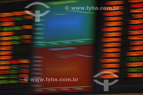 Painel eletrônico da BOVESPA (Bolsa de Valores de São Paulo) - São Paulo - SP - Brasil - Novembro de 2006  - São Paulo - São Paulo - Brasil