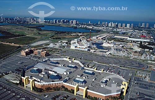 Vista aérea do Shopping Via Parque - Rio de Janeiro - RJ - Brasil - 1999  - Rio de Janeiro - Rio de Janeiro - Brasil