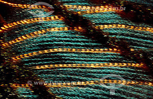 Efeito especial: luzes, verde e amarelo