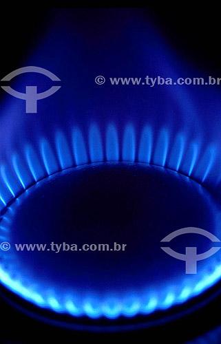 Fogo, chama de gás natural / Data: 2007