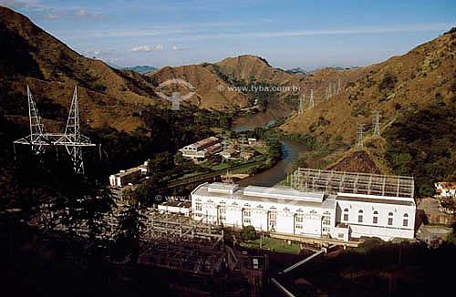 Vista da Usina Hidrelétrica do Ribeirão de Lajes - parte do Complexo Lajes-Light  - Piraí - Rio de Janeiro (RJ) - Brasil