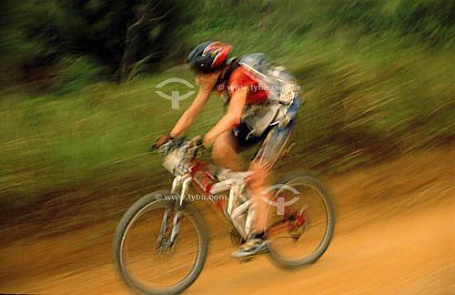 Corrida de mountain-bike na Eco Rio 2001 - Rio de Janeiro - RJ - Brasil  - Rio de Janeiro - Rio de Janeiro - Brasil