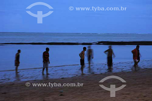 Futebol de Praia na Praia de Piedade - Jaboatão dos Guararapes - PE - Brasil  - Jaboatão dos Guararapes - Pernambuco - Brasil