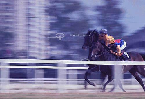 Corrida de Cavalos - Turf - Jockey Clube do Rio de Janeiro - Hipódromo da Gávea, do Jockey Club Brasileiro - Rio de Janeiro - RJ - Brasil  - Rio de Janeiro - Rio de Janeiro - Brasil