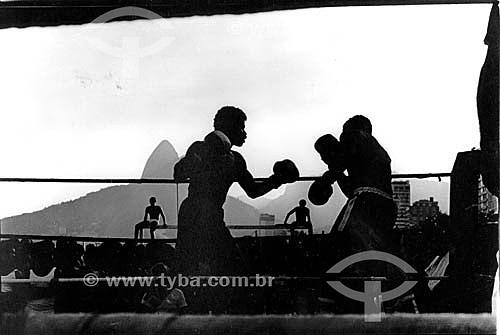 Luta de Boxe na Praia de Ipanema - Rio de Janeiro - RJ - Brasil  - Rio de Janeiro - Rio de Janeiro - Brasil