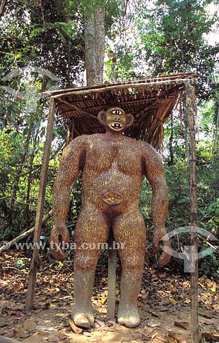 Ritos e lendas: Mapinguari, personagem do folclore amazônico - Parque Ambiental Chico Mendes - Amazônia - Rio Branco - Acre - Brasil  - Rio Branco - Acre - Brasil