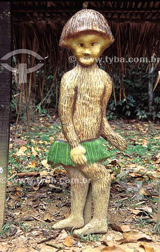 Ritos e lendas: Caboclinho da Mata, personagem do folclore amazônico - Parque Ambiental Chico Mendes - Amazônia - Rio Branco - Acre - Brasil  - Rio Branco - Acre - Brasil