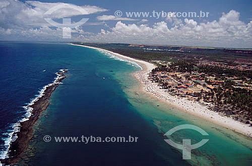 Vista aérea da Praia do Francês - Maceió - AL - Brasil  - Maceió - Alagoas - Brasil
