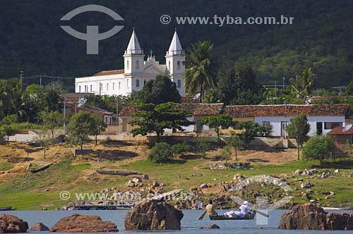 Povoado de Entre Montes, às margens do rio São Francisco -  Piranhas - AL - Brasil - junho 2005  - Piranhas - Alagoas - Brasil