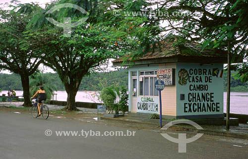 Casa de câmbio no município de Oiapoque - fronteira nacional (Brasil - França/Guiana Francesa) - AP - Brasil  - Oiapoque - Amapá - Brasil