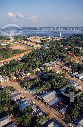 Vista aérea da cidade de São Gabriel da Cachoeira  e do Alto Rio Negro / Local: Amazonas / Data: 2003