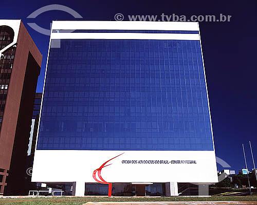 Prédio do Conselho Federal da Ordem dos Advogados do Brasil (OAB) - Brasília - DF - Brasil A cidade de Brasília é Patrimônio Mundial pela UNESCO desde 11-12-1987.  - Brasília - Distrito Federal - Brasil