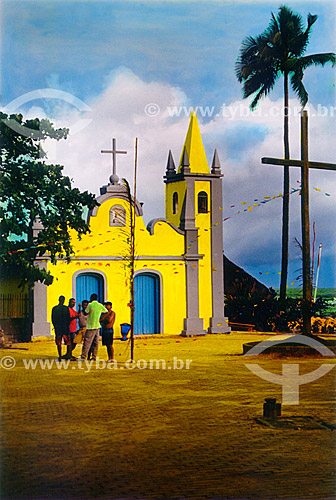 Igrejinha - aldeia de pescadores - Mata de São João - Linha Verde - Costa dos Coqueiros - norte da Bahia - Brasil  - Porto Seguro - Bahia - Brasil