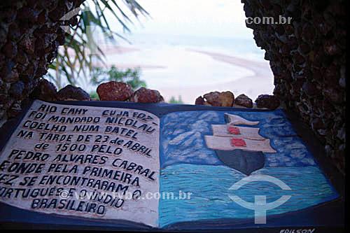 Barra do Caí  - Monumento-livro de concreto onde se lê:
