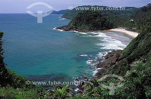 Praia de São José - Itacaré - Costa do Cacau - APA (Área de Proteção Ambiental) Itacaré - Serra Grande - litoral sul da Bahia - Brasil  - Itacaré - Bahia - Brasil