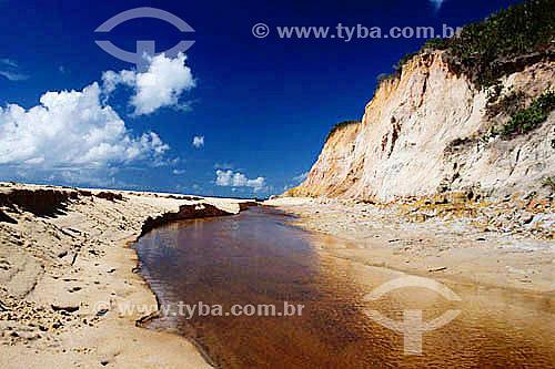 Falésias de Prado - Costa das Baleias - litoral sul da Bahia State - Brasil / 2002  - Prado - Bahia - Brasil