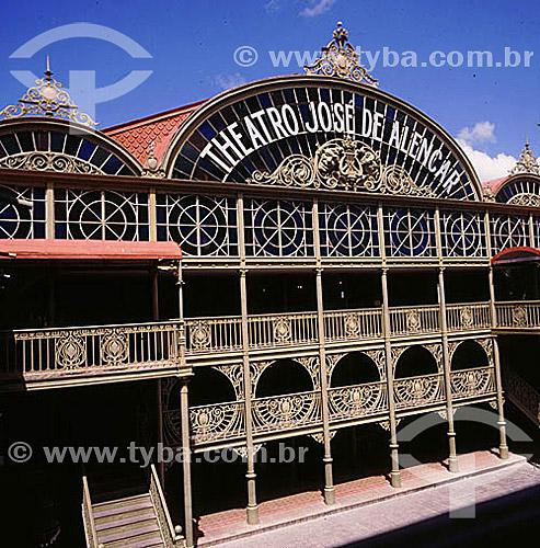 Teatro José de Alencar  - Fortaleza - CE - Brasil  O teatro, de autoria do engenheiro militar Bernardo José de Melo, foi construído entre os anos 1908 e 1910 e é Patrimônio Histórico Nacional desde 10-08-1964.   - Fortaleza - Ceará - Brasil