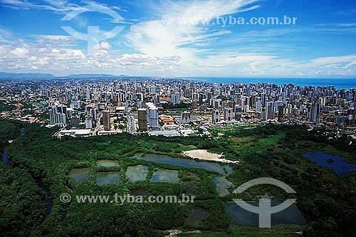 Vista aérea de Fortaleza - Parque do Cocó - Ceará - Março 2002  - Fortaleza - Ceará - Brasil