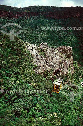 Teleférico da Gruta de Ubajara - Ceará - Brasil - 1995  - Ubajara - Ceará - Brasil