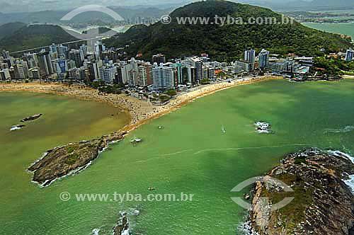 Vista aérea do litoral de Vitória - Espírito Santo - Brasil - Novembro de 2006  - Vitória - Espírito Santo - Brasil