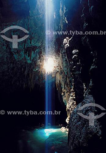 Gruta do Lago Azul  - Bonito - Mato Grosso do Sul - Brasil As grutas do Lago Azul são Patrimônios Históricos Nacionais desde 01-11-1978.   - Bonito - Mato Grosso do Sul - Brasil